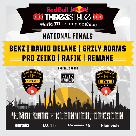 Red Bull Thre3style 2016 German National Finals square