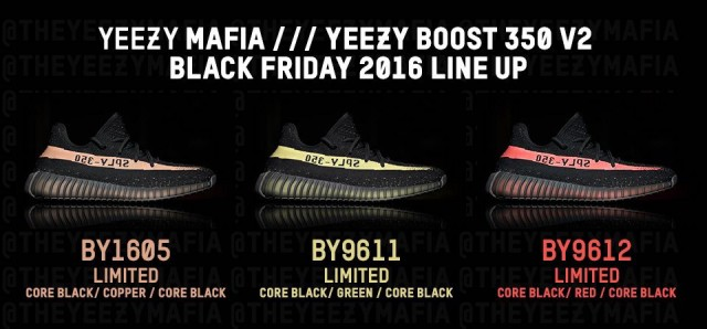 Yeezy Black Friday Lineup