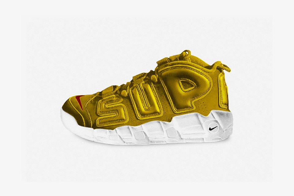 Supreme x Nike Air More Uptempo Gold Neymar