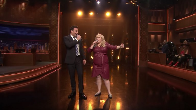 Jimmy Fallon Rebel Wilson lustig Beat Battle