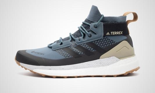 adidas Terrex Free Hiker GORE-TEX (blau / schwarz / beige) Sneaker