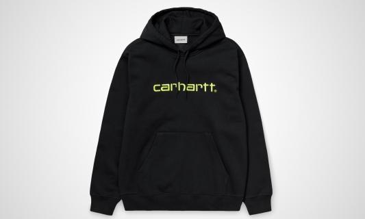 Hooded Carhartt Sweatshirt (schwarz / grün)
