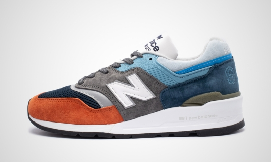 M997NAG - Made in USA (orange / grau / blau) Sneaker