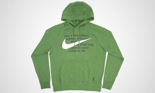 Nike Sportswear Swoosh Hooded Longsleeve (grün / weiß)
