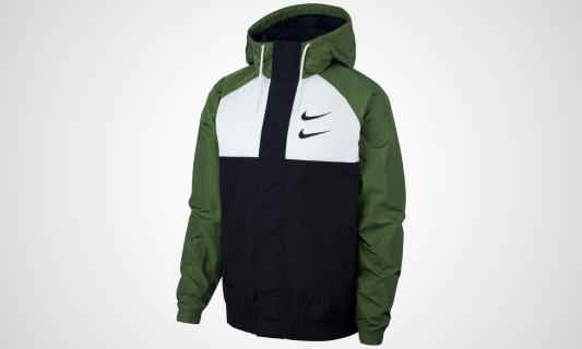 Nike Sportswear Swoosh Jacket (grün / weiß / schwarz)