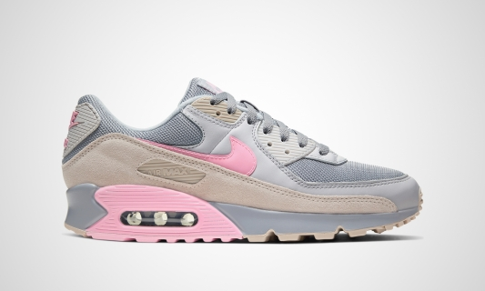 Air Max 90 (grau / beige / rosa)