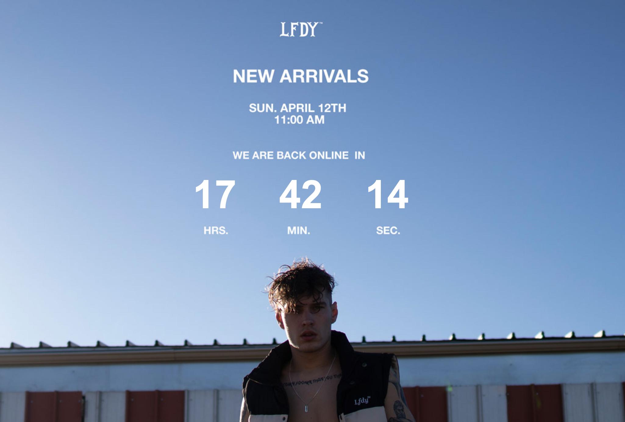 Live Fast die Young LFDY Restock Online-Shop Update