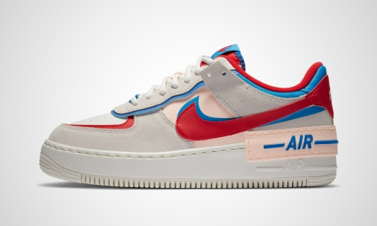 Air Force 1 Shadow (beige / rot / blau)