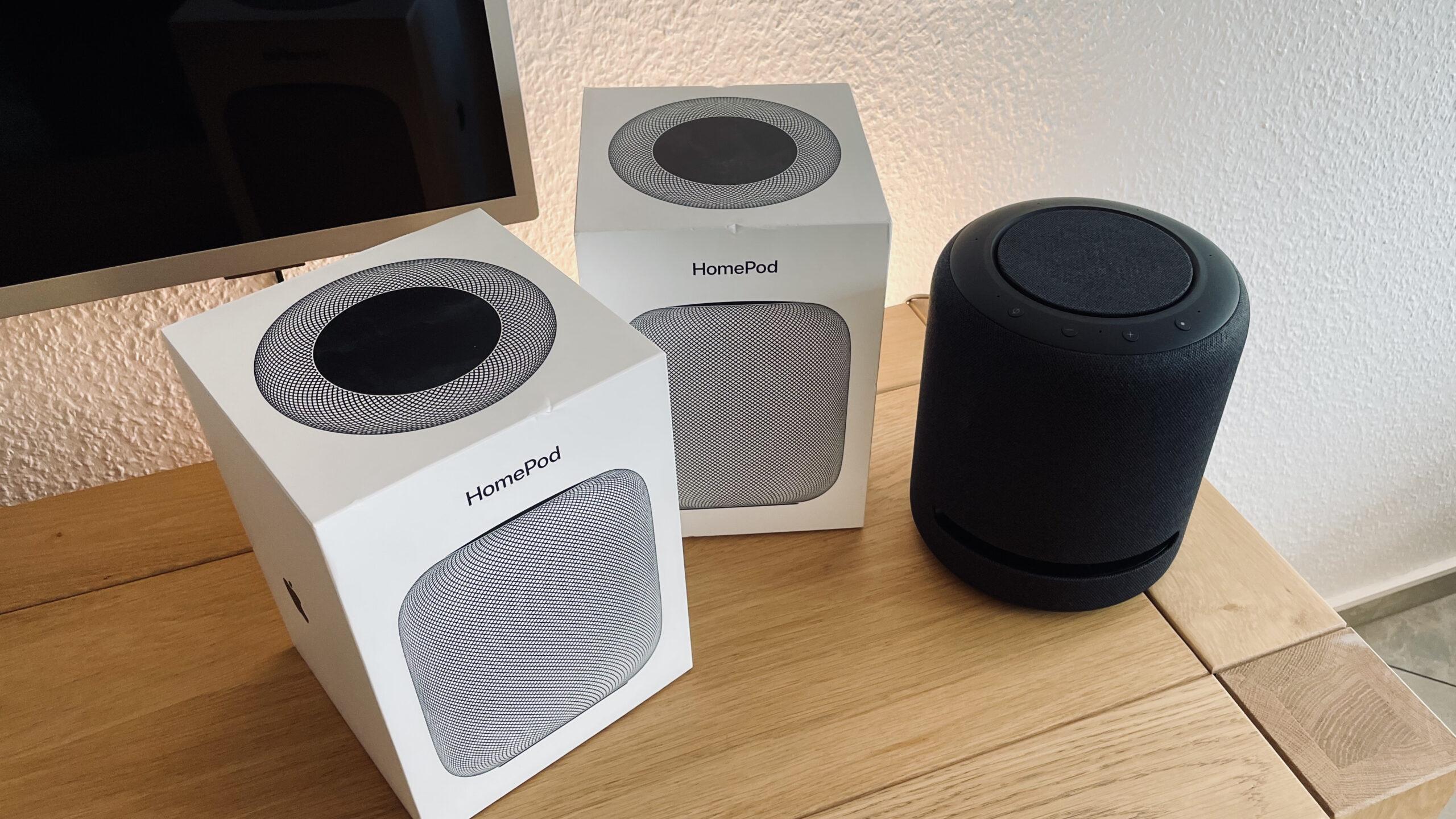 Siri Alexa Apple HomePod Echo Studio